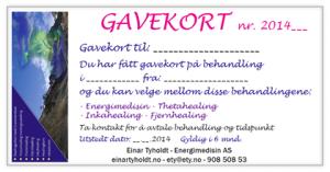 Gavekort healing time